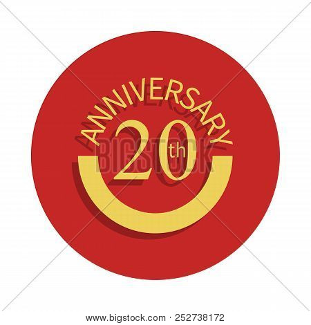 20 Anniversary Sign. Element Of Anniversary Sign. Premium Quality Graphic Design Icon In Badge Style