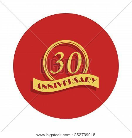 30 Anniversary Sign. Element Of Anniversary Sign. Premium Quality Graphic Design Icon In Badge Style