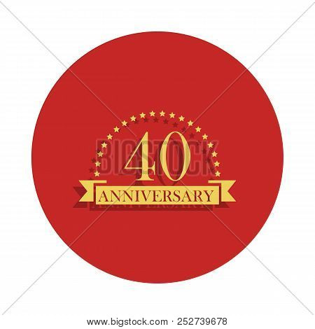 40 Anniversary Sign. Element Of Anniversary Sign. Premium Quality Graphic Design Icon In Badge Style