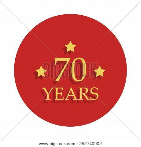70 Anniversary Sign. Element Of Anniversary Sign. Premium Quality Graphic Design Icon In Badge Style