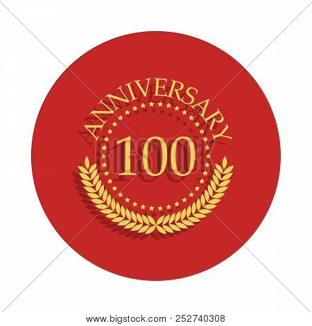 100 Anniversary Sign. Element Of Anniversary Sign. Premium Quality Graphic Design Icon In Badge Styl