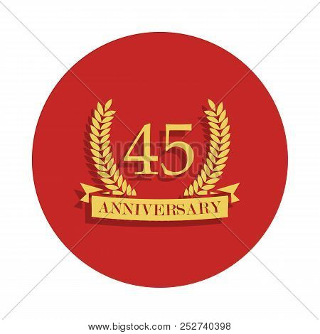 45 Anniversary Sign. Element Of Anniversary Sign. Premium Quality Graphic Design Icon In Badge Style