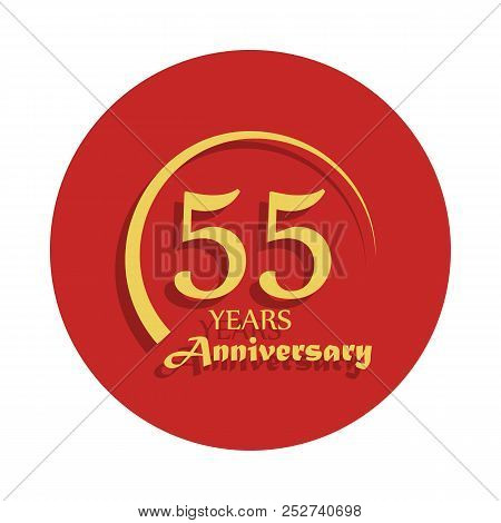 55 Years Anniversary Sign. Element Of Anniversary Sign. Premium Quality Graphic Design Icon In Badge