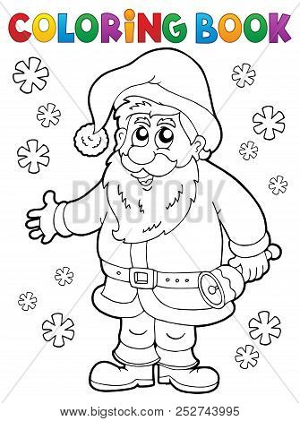 Coloring Book Santa Claus Thematics 4 - Eps10 Vector Picture Illustration.