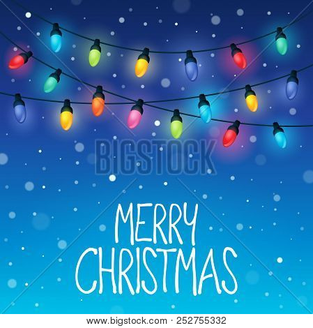 Merry Christmas Topic Image 8 - Eps10 Vector Picture Illustration.
