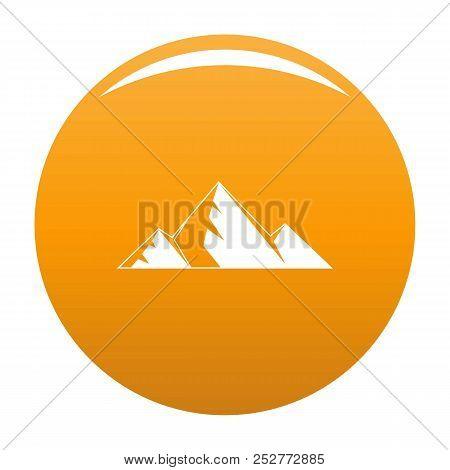 Mountain Peak Icon. Simple Illustration Of Mountain Peak Icon For Any Design Orange