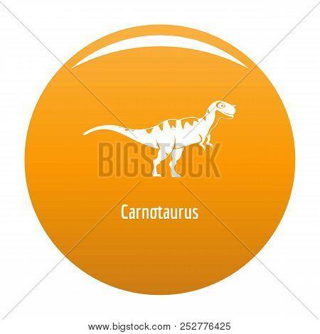Carnotaurus Icon. Simple Illustration Of Carnotaurus Icon For Any Design Orange