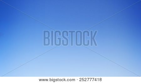Blue Sky Background, Gradient Natural Texture Template Of Dark Blue, Light, Pale And Bright Sky Colo