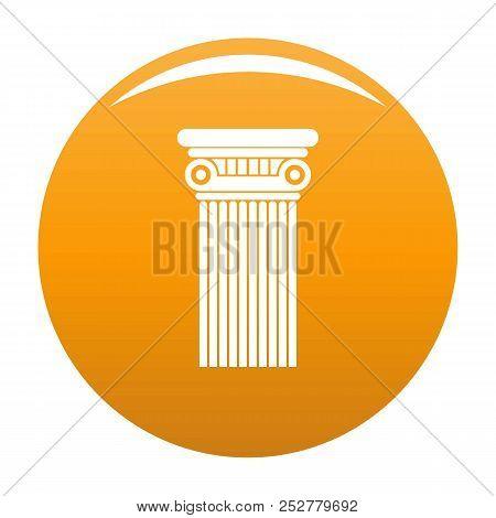 Architectural Column Icon. Simple Illustration Of Architectural Column Icon For Any Design Orange