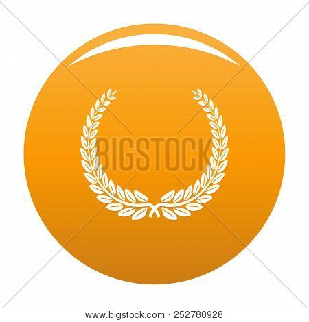 Leader Wreath Icon. Simple Illustration Of Leader Wreath Icon For Any Design Orange