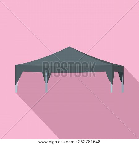 Commercial Tent Icon. Flat Illustration Of Commercial Tent Icon For Web Design