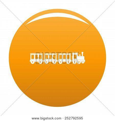 Passenger Train Icon. Simple Illustration Of Passenger Train Icon For Any Design Orange