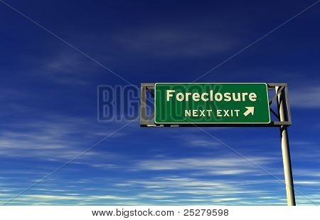 Foreclosure - Freeway Exit Sign