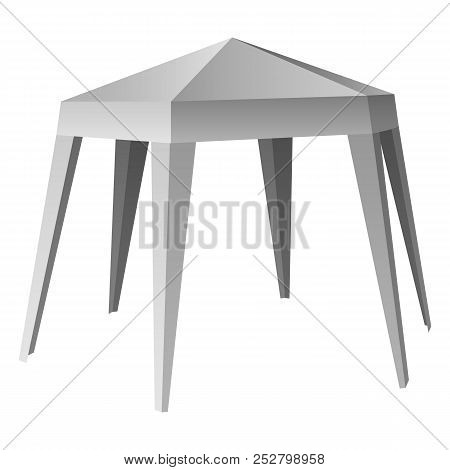 Commercial Tent Mockup. Realistic Illustration Of Commercial Tent Mockup For Web Design Isolated On