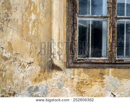 window in an old dilapidated house