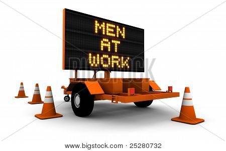 Men At Work - Construction Sign