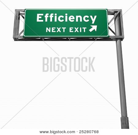 Efficiency Freeway Exit Sign