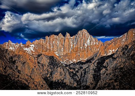 Landscape Photograph Of Mt. Whitney In California.