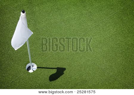 Golf Course Green - Hole And Flag