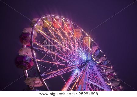 Ferris Wheel At Carnival Midway
