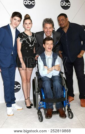 LOS ANGELES - AUG 7:  Mason Cook, Kyla Kenedy,  Micah Fowler, John Ross Bowie, Cedric Yarbrough at the ABC TCA Party- Summer 2018 at the Beverly Hilton Hotel on August 7, 2018 in Beverly Hills, CA
