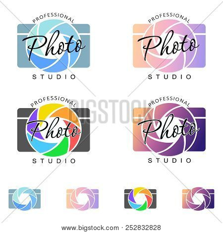 Camera, Color Image. Logo, Sign, Icon, Symbol, Emblem. For A Photographer, Photo Studio