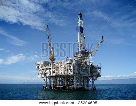 Offshore Oil Rig Drilling Platform