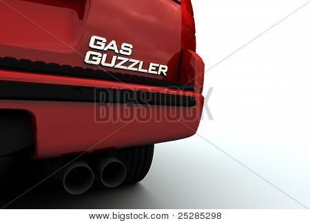 Gas Guzzler Emblem On Suv