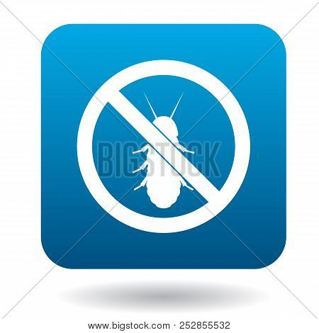 No Termite Sign Icon In Simple Style On A White Background