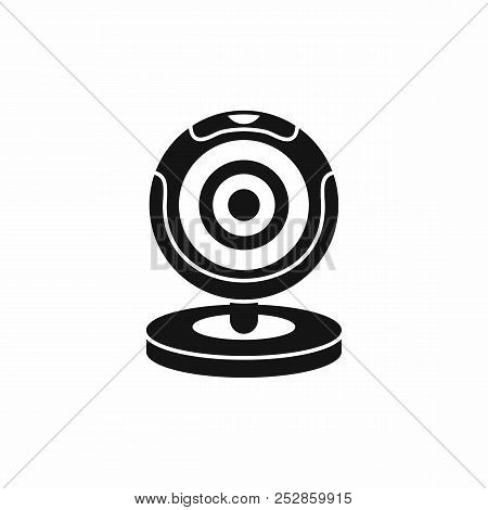 Webcam icon in simple style isolated illustration poster