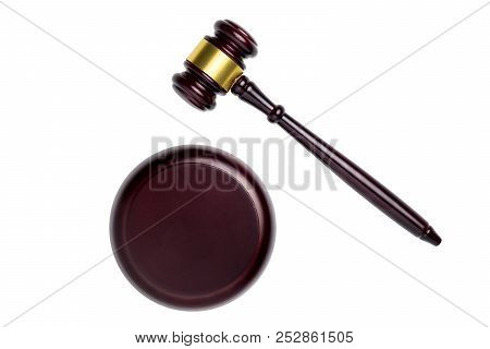 Wooden Gravel Isolated On White Background With Clipping Path.