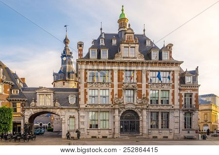 Namur,belgium - May 22,2018 - View At The Building Of Bourse In Namur. Namur Is A City And Municipal