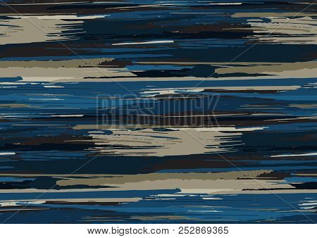 Vector Seamless Pattern With Hand Drawn Rough Edges Textured Brush Strokes And Stripes Hand Painted.