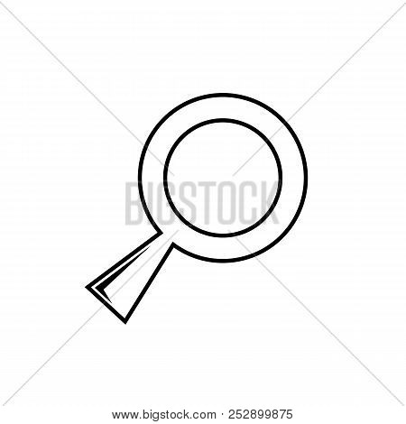 Magnifying Glass, Research, Find Icon Vector, Lens, Look Magnifier.loupe Sign, Modern Flat Symbol Ve