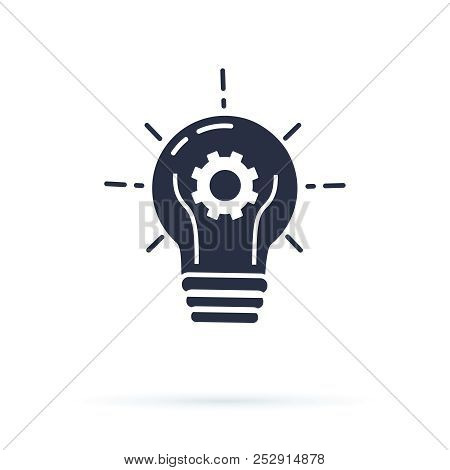 Bulb Electricity Vector Icon. Lightbulb Solid Icon Vector, Isolated On White Background. Idea Sign,