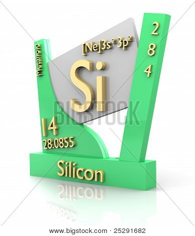 Silicon Form Periodic Table Of Elements - V2