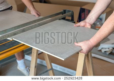 Workers Cutting Image Photo Free Trial Bigstock