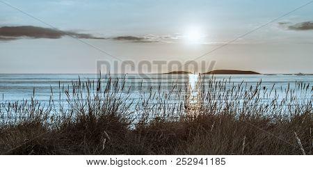 Different View Of Estelas Islands In Nigran, Galicia