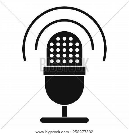 Studio Microphone Icon. Simple Illustration Of Studio Microphone Icon For Web Design Isolated On Whi