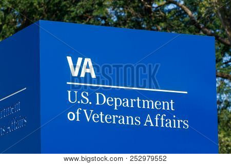 Fort Wayne - Circa August 2018: Signage And Logo Of The U.s. Department Of Veterans Affairs. The Va