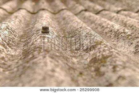Close up of corrugated plate for roof covering