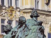 Jan Hus Monument Prague Old Town Square Czech Republic poster