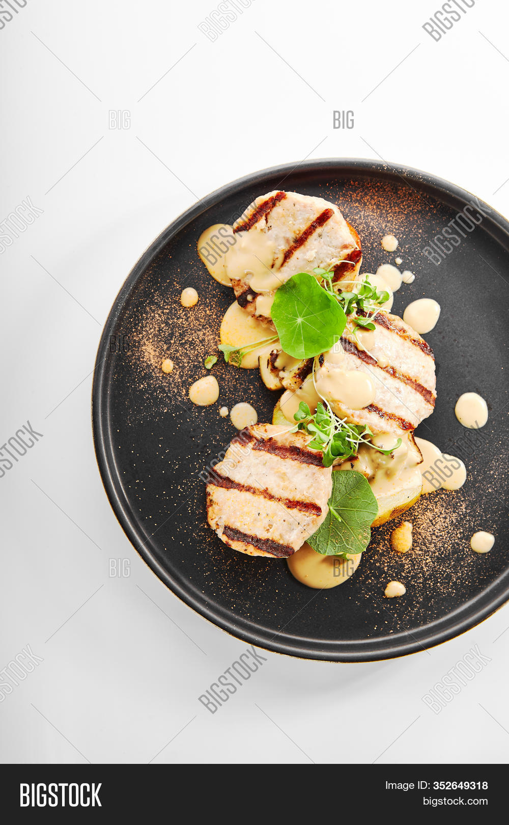 Fish Cakes Top View Image Photo Free Trial Bigstock