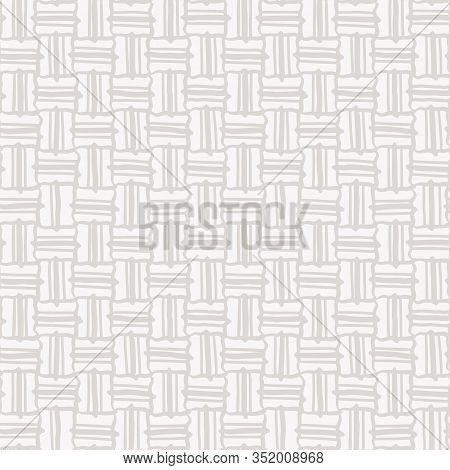 Cream Gray Vector French Linen Texture Background. Old Ecru Flax Fibre Seamless Pattern. Woven Ribbo