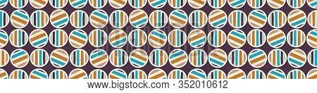 Mid Century Vector Modern Vintage Pattern Border Background. Polka Dot Masculine Graphic Banner Desi