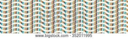 Mid Century Wavy Modern Vintage Vector Banner Pattern Background. Wave Stripe Masculine Graphic Desi