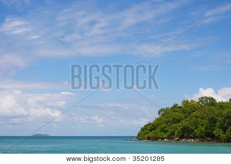 Exotic Paradise Idyllic Island in the summer time