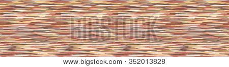 Blotched Space Dyed Ombre Background. Banner Texture. Mottled Line Effect Seamless Border Pattern. V