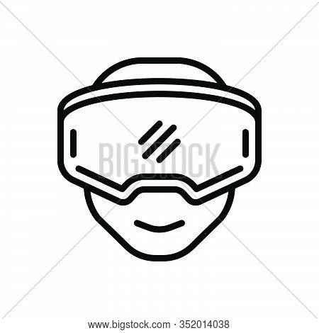 Black Line Icon For Oculus-rift Gear Reality Rift Device Entertainment Headset Gaming