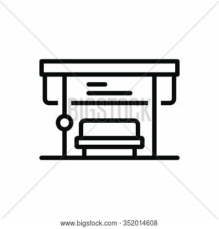Black Line Icon Bus Vector Photo Free Trial Bigstock